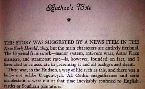 Dragonwyck Author's Note